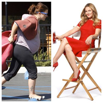 Drew Barrymore, weight loss, struggle, glam photo, pregnant photo
