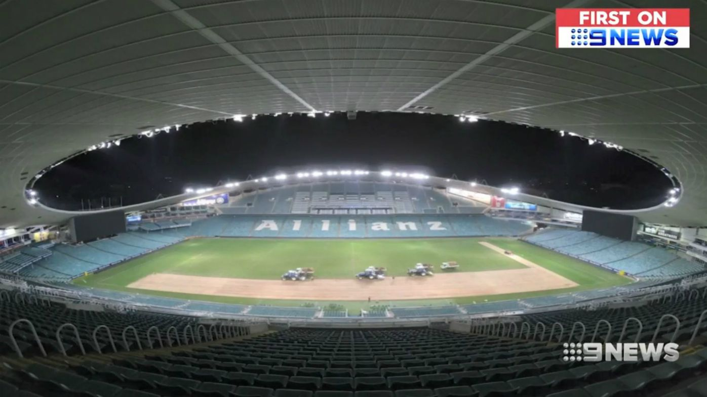 Allianz Stadium re-turf