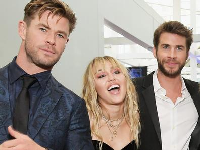 Chris Hemsworth, Miley Cyrus and Liam Hemsworth