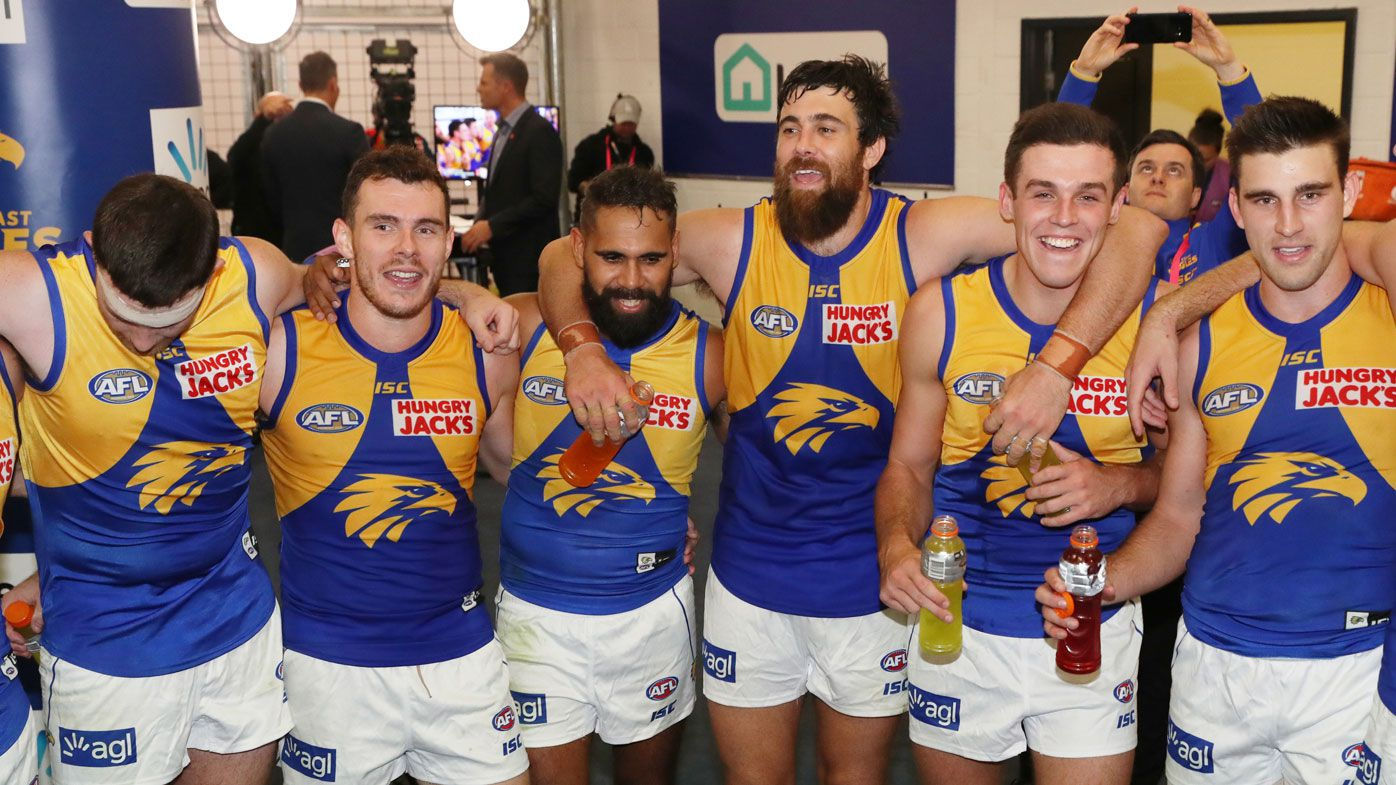 West Coast Eagles overcome  pre-game 'claustrophobic' lift drama to defeat St Kilda at Marvel Stadium