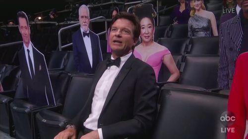 Jason Bateman attends the Emmy awards.