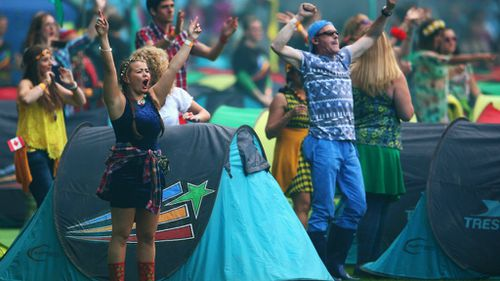 Dancers perform during the Closing Ceremony for the Glasgow 2014 Commonwealth Games at Hampden Park on August 3, 2014 in Glasgow, United Kingdom. (Getty)