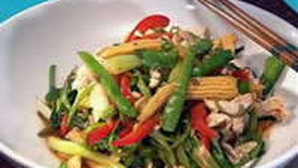 Sweet chilli chicken with Thai veggies