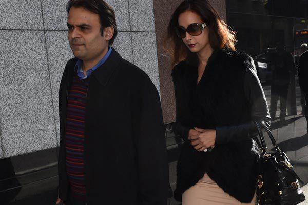 Pankaj (left) and Radhika Oswal. (AAP)