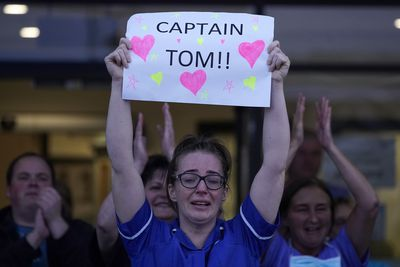 Captain Tom Moore celebrated during 'Clap for our Carers'