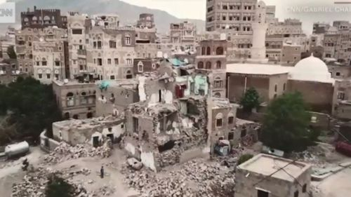Rare drone footage shows warn-torn Yemen from a new perspective.