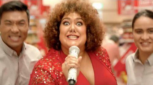 "Australian Idol winner Casey Donovan sang the ""down, down"" jingle in one advertisement."