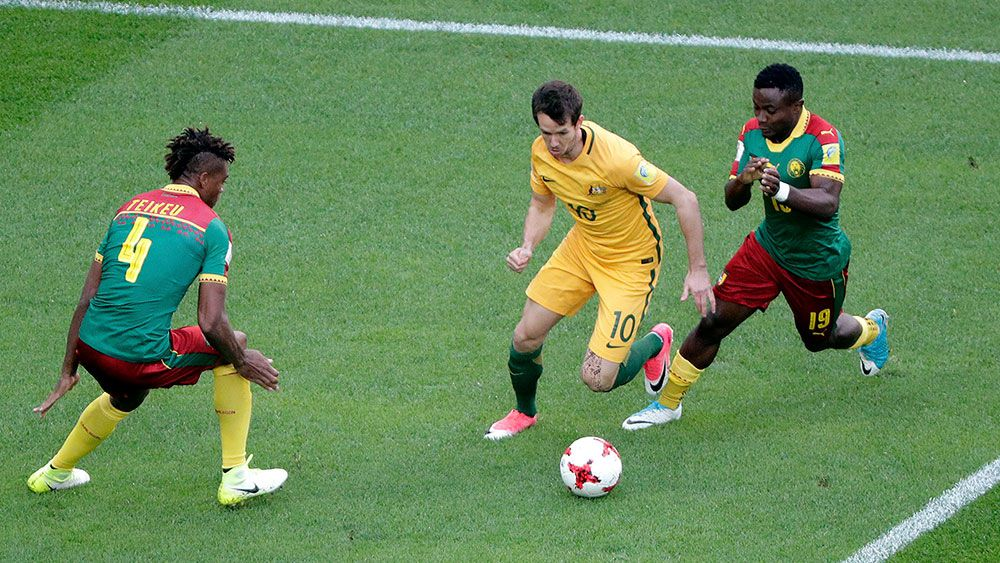 Robbie Kruse in action for the Socceroos. (AAP)