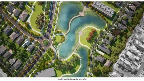 The development will be built on a golf course.