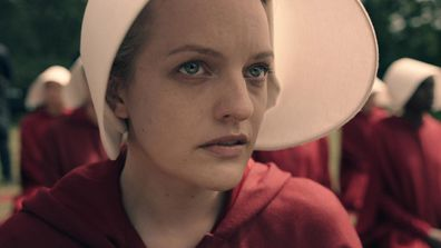 The Handmaid's Tale, the dystopian sci-fi series that claimed top drama honours last year, drew 20 bids. Picture: Hulu