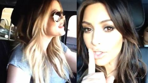 Watch: Kim Kardashian secretly films sisters' terrible singing