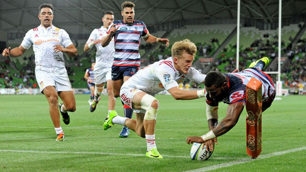 Marika Koroibete's first rugby try not enough to save Rebels against Chiefs