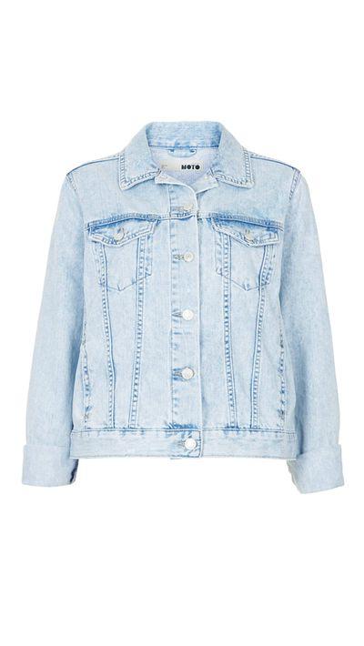 "<a href=""http://www.topshop.com/en/tsuk/product/clothing-427/denim-897/denim-jackets-900/moto-fitted-denim-jacket-2601605?bi=1&ps=20"" target=""_blank"">Jacket, approx. $80, Topshop</a>"