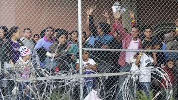 Detained migrants are locked up at a facility in El Paso, Texas.