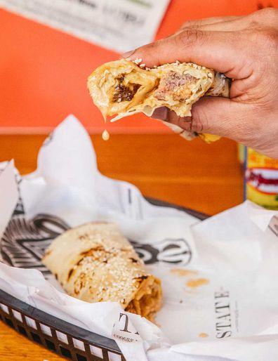 Taqueria Big Mac burrito