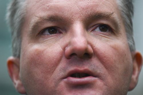 Shadow Treasurer Chris Bowen speaks to the media during a press conference at Parliament House in Canberra today. (AAP)