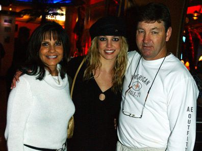Britney Spears with her parents Lynne and Jamie in 2001.