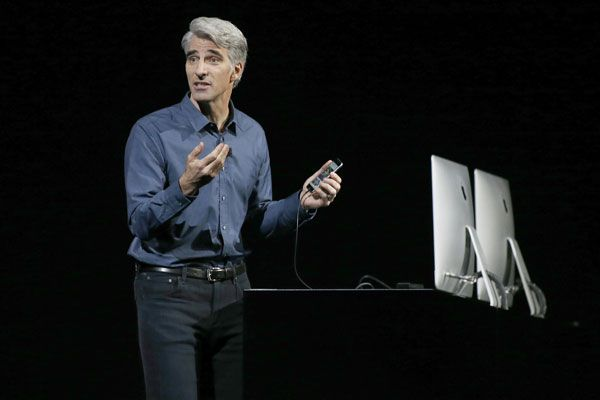 Apple vice president Craig Federighi at its annual developer conference (AAP)