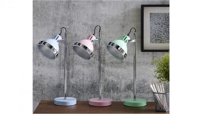 "<a href=""http://www.harveynorman.com.au/caddy-mint-desk-lamp.html?CAWELAID=720013240000244653&amp;gclid=CKLsu9uyntQCFY4HKgodOIEBmw&amp;gclsrc=aw.ds"" target=""_blank"">Harvey Norman Caddy Desk Lamp, $129.</a>"