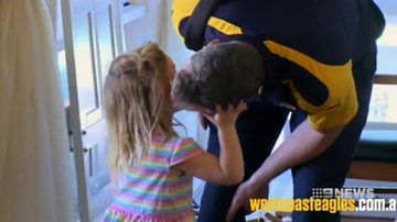 Daughter of Eagles coach Adam Simpson out of hospital
