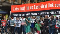 Debate over East West link heats up (Question)