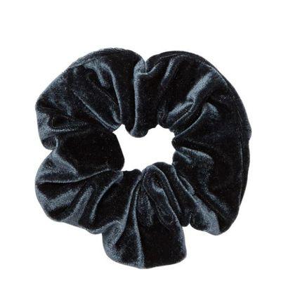 """<a href=""""https://www.sportsgirl.com.au/accessories/hair/slate-velvet-scrunchie-slate-all"""" target=""""_blank"""">Sportsgirl&nbsp;Slate Velvet Scrunchie, $7.95</a>"""