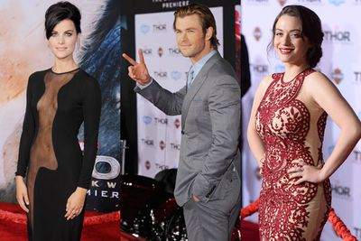 <i>Thor</i> actress Jaimie Alexander may have stolen the spotlight at Tuesday's premiere of <i>Thor: The Dark World</i> in that killer see-through dress, but Marvel writer <b>Stan Lee</b> posed for pics on a motorbike and tried to make out with <i>Agents of S.H.I.E.L.D.</i> TV star <b>Chloe Bennett</b>! Yep, he's officially the coolest 90-year-old ever!<br/><br/>Scroll through to see all the hottest pics from the red carpet, featuring a special appearance by <i>Thor</i> star <b>Chris Hemsworth</b> little brother Liam! Then keep scrolling to watch red carpet videos, interviews with the stars and the latest <i>Thor: The Dark World</i> clips...