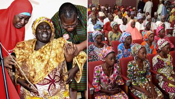 Many of the kidnapped Chibok girls have been reunited with their family.  (AFP)