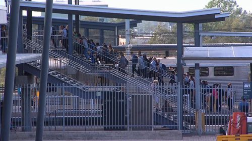 There are some express trains running to help passengers to get to their destinations. (9NEWS)
