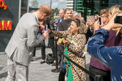 Prince Harry given present for baby Archie in Amsterdam