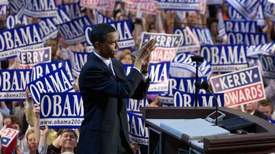 In 2004 Barack Obama was just a state legislator in Illinois, but his keynote speech at the Democratic National Convention overshadowed candidate John Kerry. His speech made him an immediate contender for the presidential nomination four years later. (AP)