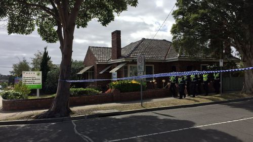 It's understood police are seizing CCTV from a wellness clinic nearby the crime scene. (9NEWS)