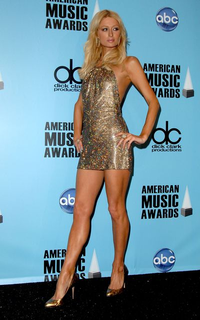 Paris Hilton at the 2008 American Music Awards on November 23, 2008 in Los Angeles