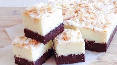 "Katherine Sabbath's dark chocolate whiskey mocha and Malibu toasted coconut fudge <a href=""http://kitchen.nine.com.au/2016/11/23/08/09/katherine-sabbaths-dark-chocolate-whiskey-mocha-and-malibu-toasted-coconut-fudge"" target=""_top"">recipe</a>"