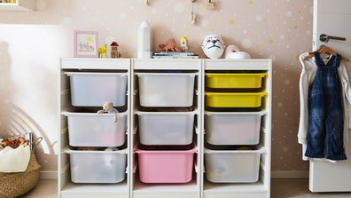 IKEA children's bedroom storage.