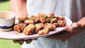 Luke Hines' better for you hot and spicy chicken nuggets recipe