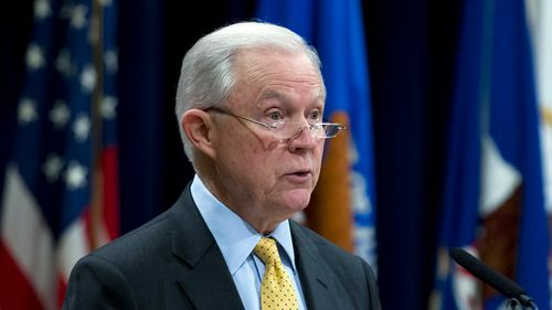 Attorney General Jeff Sessions is enforcing the government's strict border policy. Picture: AAP
