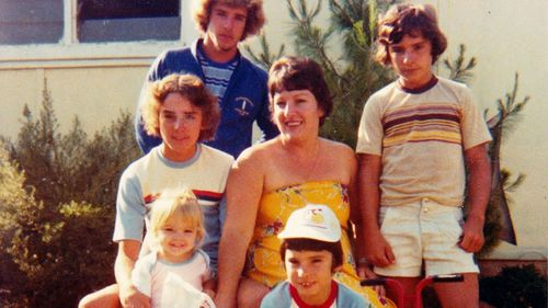 The Sessions family: Jennifer bottom left stands next to her brother Bernie (seated). (Jennifer Allen)