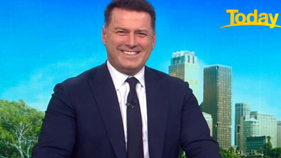 Karl Stefanovic was over the moon when he introduced the interview.