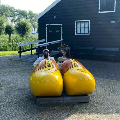 Ariana Grande shares photos from her Amsterdam honeymoon.