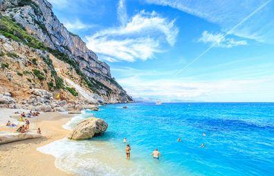 Sardinia beach Cala Goloritze