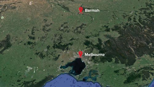 'Razzle's' body was found in the tiny town of Barmah. (9NEWS)
