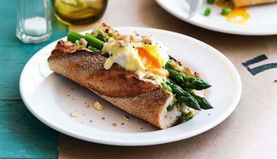 "<a href=""http://kitchen.nine.com.au/recipes/iasparagus/8301401/asparagus-poached-egg-and-taleggio-baguette"" target=""_top"">Asparagus, poached egg and Taleggio baguette</a><br> <br> <a href=""http://kitchen.nine.com.au/2016/06/07/02/52/energy-boosting-dishes-to-help-you-quit-coffee"" target=""_top"">More energy-boosting recipes</a>"