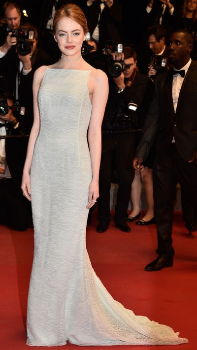 <p><strong>Day three<br></strong>Emma Stone in Christian Dior Couture</p>