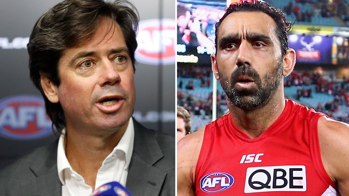 AFL boss Gillon McLachlan hopes 'time heals' Adam Goodes after legend rejects Hall of Fame offer