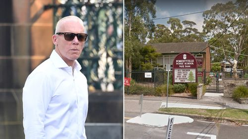 Former Socceroos star Robbie slater; Forestville Public School. (AAP/Google Maps)