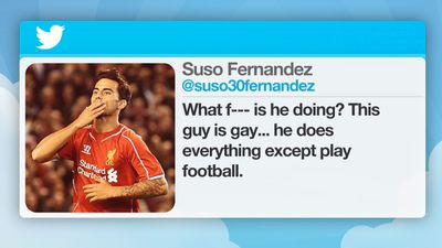 In 2012, 19-year-old Liverpool soccer player Suso tweeted a controversial reply to his fellow team-mate Jose Enrique, who posted a picture of himself getting his teeth whitened.
