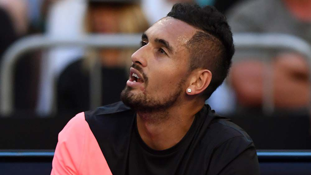Nick Kyrgios fined for outburst at fan during first-round match
