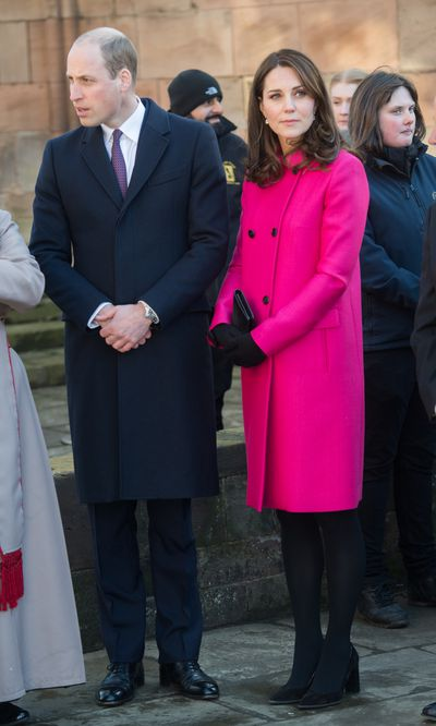 Duchess of Cambridge Kate Middleton at Coventry Cathedral, London, January, 2018