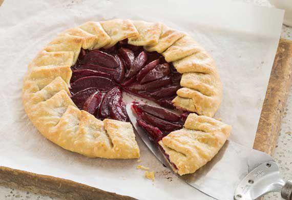 Easy plum galette